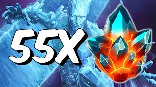 55x Premium Hero Crystal Opening! - Archangel and Iceman Hunting - Marvel Contest Of Champions