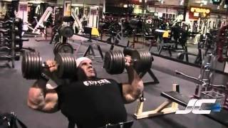 Jay Cutler Calves and Chest 2017 Video