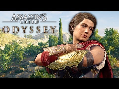 DEFEATING THE CYCLOPS & EXPLORING SHOPS (Assassin's Creed Odyssey Free Roam)