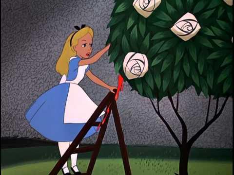 Alicia en el país de las Maravillas - ♫ Painting the Roses Red ♫ (Las rosas hay que pintar)
