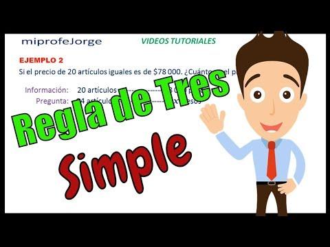 REGLA DE TRES SIMPLE. Ejemplos