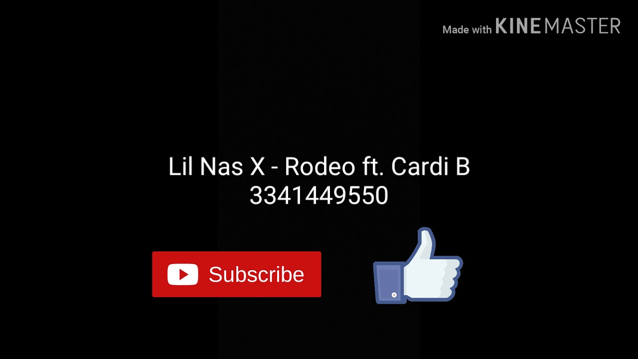 Roblox Song Id Codes Cardi B Roblox Lil Nas X Rodeo Ft Cardi B Roblox Id Code Youtube