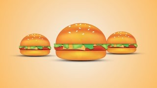 Illustrator Hamburger Adobe illustrator CC tutorial | illustrator burger Tutorial