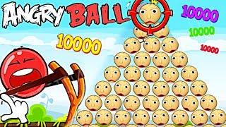 1000 БАЛДИ НАПАЛИ НА КРАСНЫЙ ШАРИК !!! В Энгри Бердз Red Ball 4 Angry Birds Мультик про шар BALDI'S