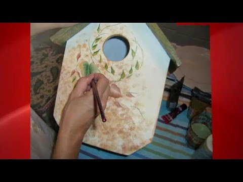 How to bird house casita de pajaros manualidades youtube - Manualidades pintar abanicos ...