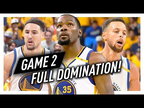 Kevin Durant, Stephen Curry & Klay Thompson Game 2 Highlights vs Cavaliers 2017 Finals - DOMINATION
