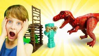 Видео игры для мальчиков - Стив Майнкрафт и мир Динозавров!