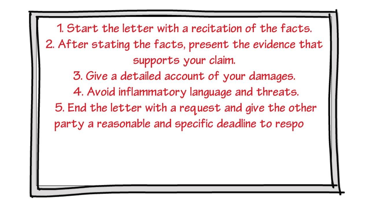 Sample Insurance Demand Letter Property Damage from i.ytimg.com