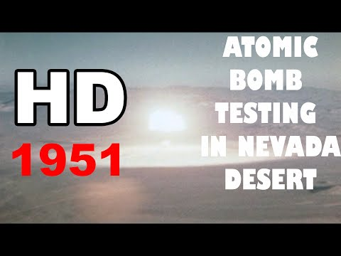 HD atomic bomb testing in Nevada desert