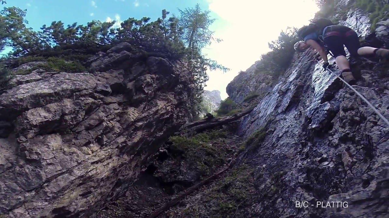 Klettersteig Verborgene Welt : Verborgene welt klettersteig 2015 08 05 youtube