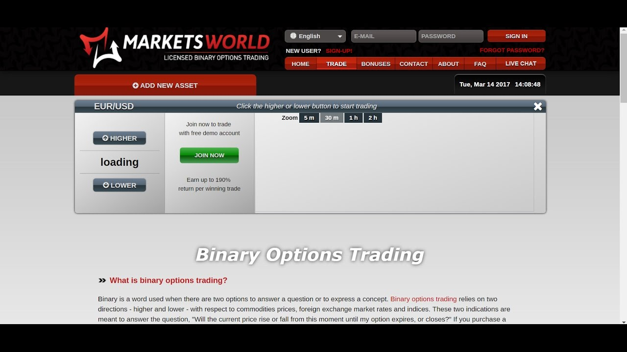 Binary options broker trading review