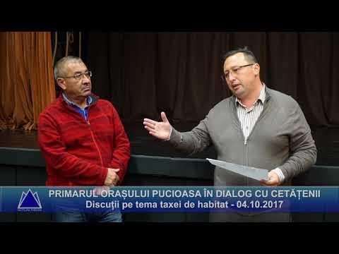 PRIMARUL ORAȘULUI PUCIOASA IN DIALOG CU CETĂȚENII - Discuții pe tema taxei de habitat 04.10.2017