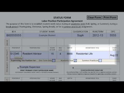 MyBerea Training - Completing a Labor Status Form HD