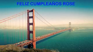 Rose   Landmarks & Lugares Famosos - Happy Birthday