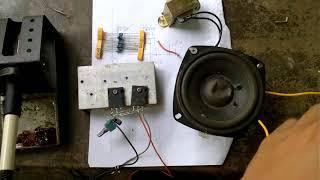 hướng dẫn chi tiết làm mạch âm thanh dùng hai transistor đơn giản
