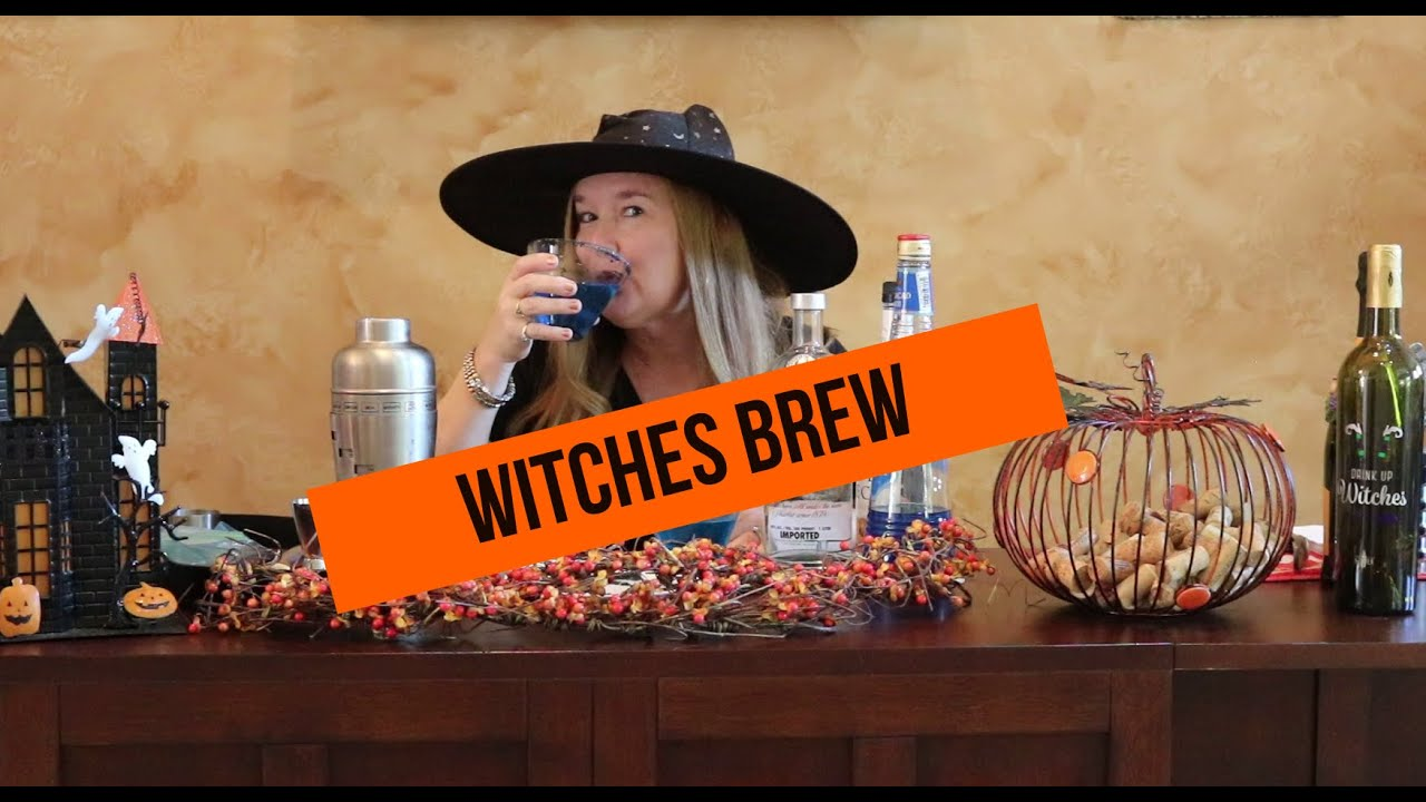 Witches Brew Halloween Cocktail