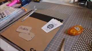 Diy Ticket Stub Shadow Box // Process Video