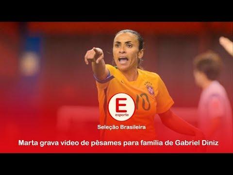 Rainha Marta grava video em homenagem a Gabirle Diniz