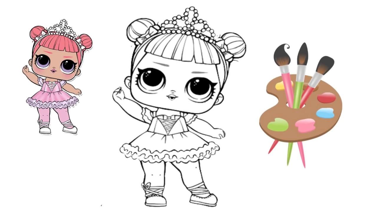 Раскраска куклы ЛОЛ / Кукла ЛОЛ сюрприз / книжка раскраска ...