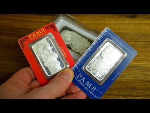 Silver Bullion Unboxing Pamp Bars and Coins for my Collection