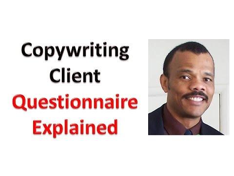 Copywriting Client Questionnaire Explained