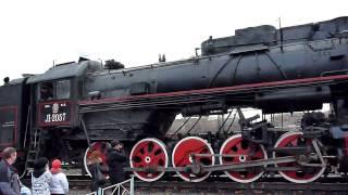 Steam Locomotive Паровоз Л-2057 27.11.11(Паровоз Л-2057 (депо Подмосковная) с ретро-поездом на товарной станции Андроновка (МК МОЖД) 27.11.2011 Этот же поез..., 2011-11-29T19:26:51.000Z)