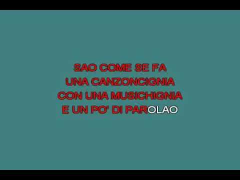 Medley Cacao meravigliao   Arbore Renzo [karaoke]
