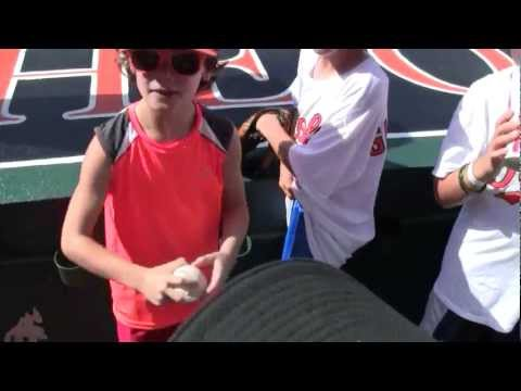 Miguel Socolovich Gives Fan A Baseball