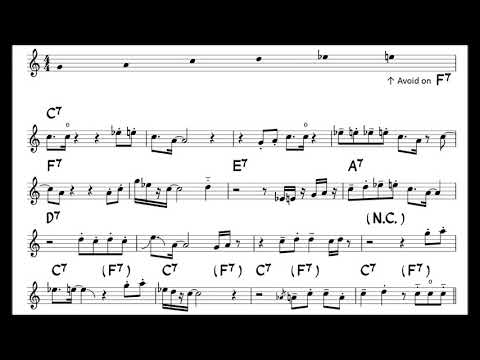 The Chicken - Easy Solo Example for Tenor Sax -2