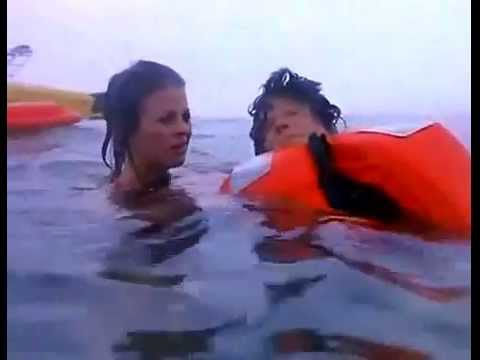 BAYWATCH S06E20  Stephanie saves DROWNING UNCONSCIOUS Caroline after she was gassed CPR