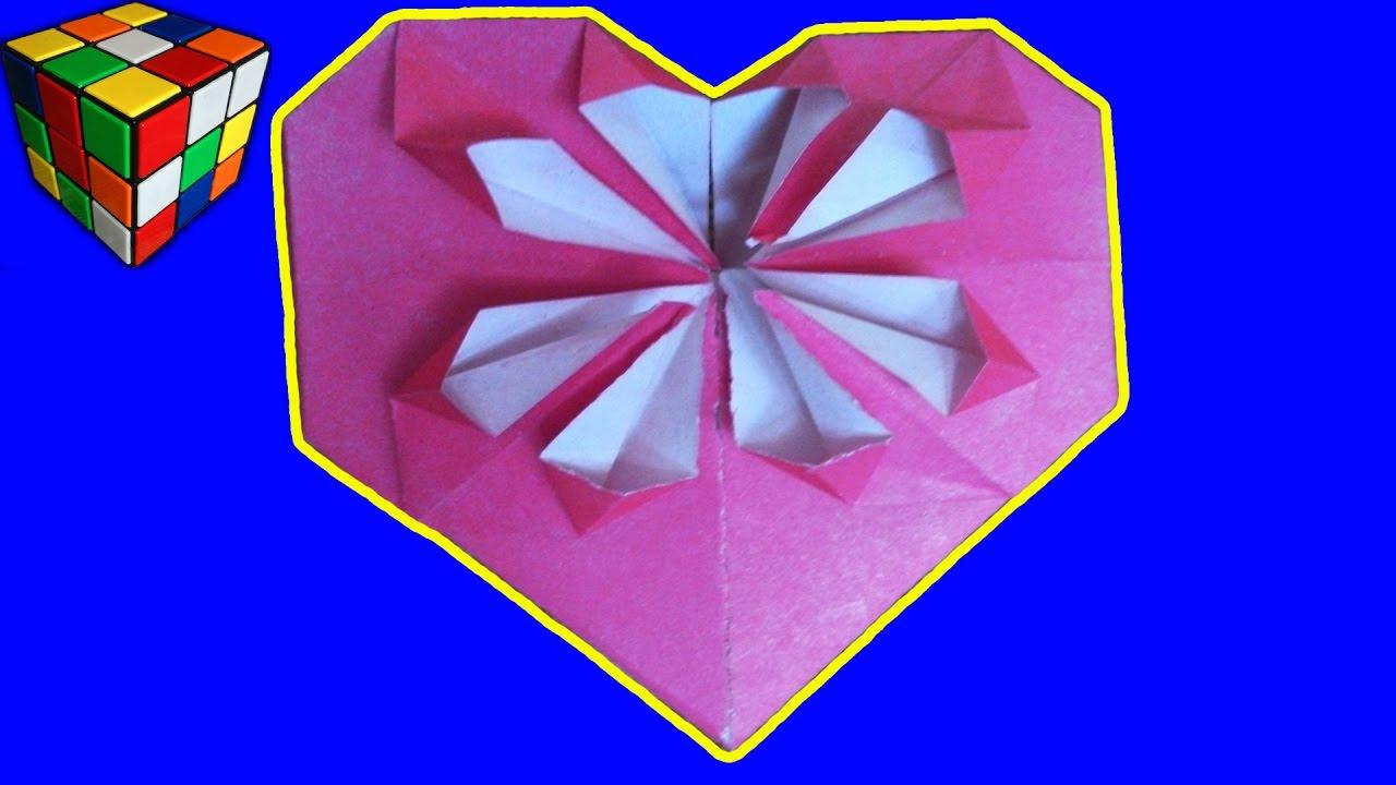 Оригами своими руками сердце фото 661