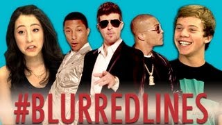 Repeat youtube video Teens React to Robin Thicke - Blurred Lines