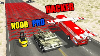 NOOB vs PRO vs HACKER #36 - Beamng drive