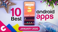Top 10 Best Apps for Android - Free Apps 2020 (January)