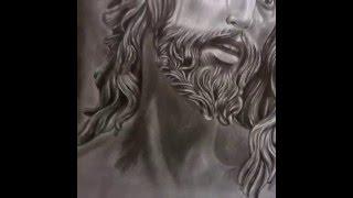 Jesus is my savior_ pencil drawing by me 2016
