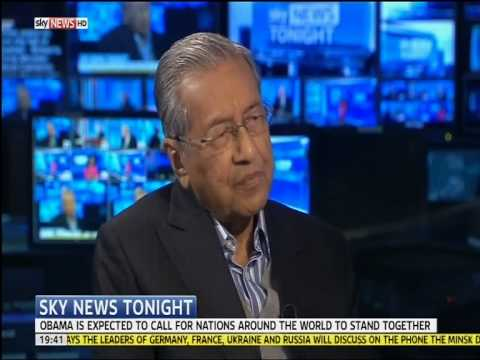 'Israel to blame for ISIS' - Mahathir Mohamad (Sky News)