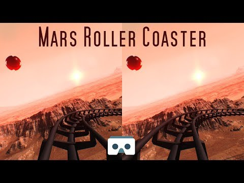 Virtual Reality 3D Video:  Sci-Fi SBS Roller Coaster VR on Mars - 롤러코스터, montañas rusas, achterbahn