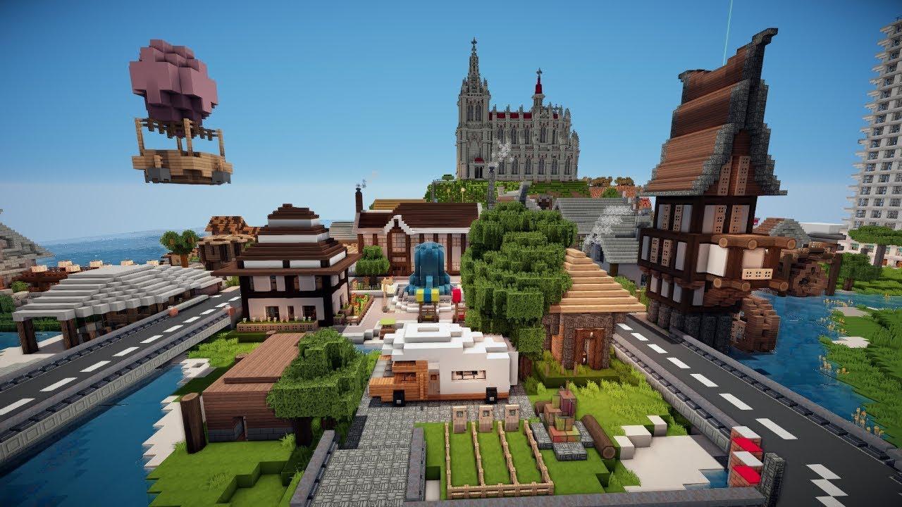 MINECRAFT City Of Community Spawn Altstadt YouTube - Minecraft hochhauser