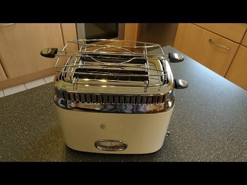 Russell Hobbs 21682-56 Retro Vintage Cream Toaster mit stylischer Countdown-Anzeige
