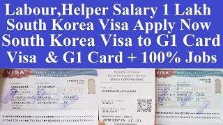 South Korea Visa Apply l South Korea HighSalary Jobs l South Korea G1 Visa l South Korea Visit Visa