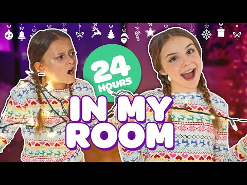 FUNNY 24 HOUR OVERNIGHT ROOM CHALLENGE (Christmas Room Tour 2018)🎄🛏 | Piper Rockelle
