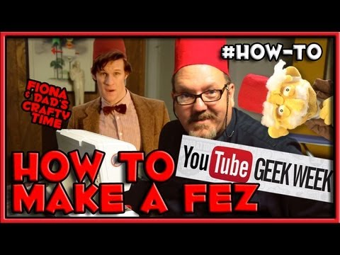 How To Make a Fez - Doctor Who Cosplay - GEEK WEEK