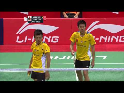 2014 Thomas Cup Final, Malaysia vs Japan, Goh V Shem-Tan Wee Kiong vs Keigo Sonoda-Takeshi Kamura