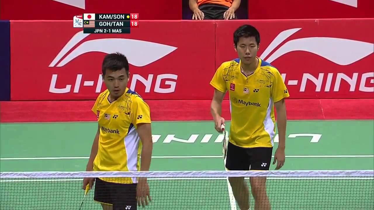 2014 Thomas Cup Final Malaysia vs Japan Goh V Shem Tan Wee Kiong