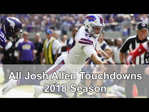 Josh Allen    All Passing & Rushing TDs    2018-2019 NFL Season