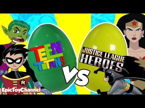TEEN TITANS vs JUSTICE LEAGUE Who Would Win?  A Surprise Toy Video with Teen Titans & Justice League