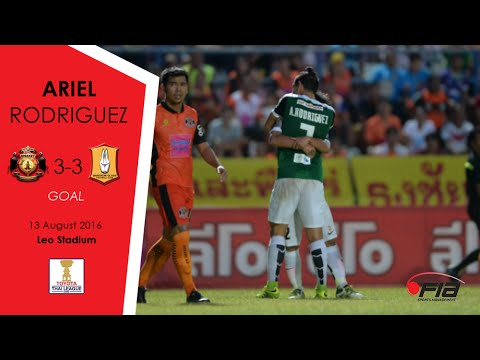 Ariel Rodriguez - Sisaket 3-3 Bangkok Glass - Thai League 2016