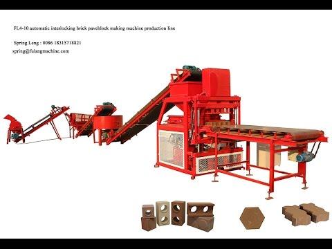 FL4-10 Hot sale new automatic compressed earth brick machine burning free
