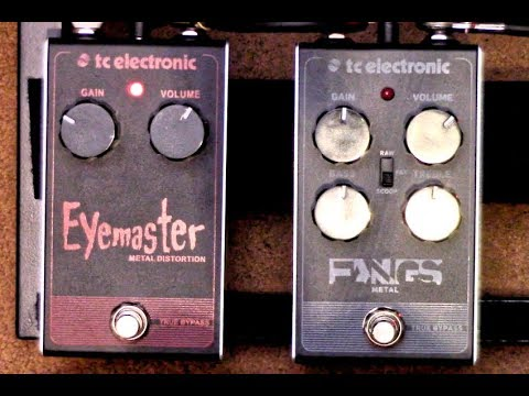 all the gain tc electronic eyemaster fangs metal distortion pedals youtube. Black Bedroom Furniture Sets. Home Design Ideas