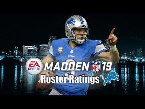 Madden 19 Detroit Lions Team Builder Mut 19